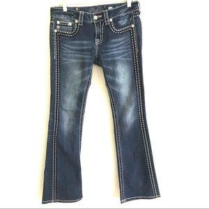 Miss Me dark wash boot cut jeans 28